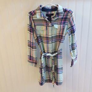 Mint Green Plaid Flannel Gap Kids Tunic